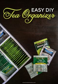 Easy DIY Tea Organizer with Bigelow Tea #AmericasTea #shop #cbias