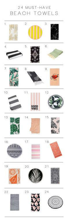24 Must-Have Beach Towels