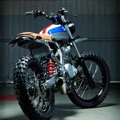 """Kiddo Uno"", 1988 Honda NX650 Dominator custom build by Kiddo Motors - Sergio Armet."