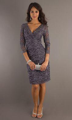 Lace Dress in Gunmetal $138
