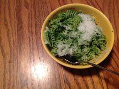 Dinner tonight-pasta w/ kale pesto. Yum!