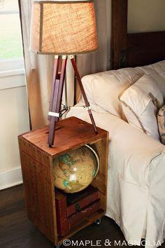 Creative DIY side table idea