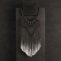 Eleanor Amoroso macramé necklace