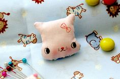 Tiny Pink Kitten Brooch Plush