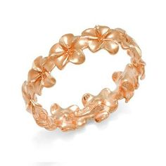 Plumeria rose gold ring. I love this.