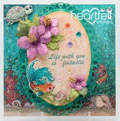 Heartfelt Creations | Hibiscus Oval Sea Life