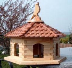 Großes Sechseck-Vogelhaus