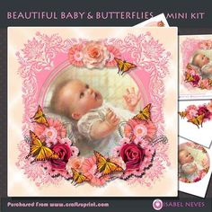 Beautiful Baby and Butterflies Mini Kit on Craftsuprint designed by Isabel Neves - Beautiful Baby, Butterflies, Flowers makes beautiful cards for many new baby girl celebrations.Mini Kit Includes:* Card Front* Topper Decoupage* Decoupage Pieces* Various Sentiment Tags* Gift/Bag Tags* Preview** Sentiment Tags Read:* Happy Christening* Bundle Of Joy!* God Bless Your Baby Girl* On Your Christening* Precious Moments* 1st Birthday!* It's A Girl!  Blank for your own sentiments - Now available for…