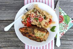 Pesto Grilled Chicken with Fresh Tomato Pasta - A Pretty Life In The Suburbs