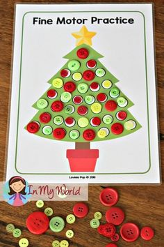 FREE Christmas Preschool Centers Christmas Tree Fine Motor Source by ramonagangloff