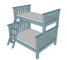 I want to make this! DIY Furniture Plan from Ana-White.com How to convert the Simple Beds into a twin over full bunk. Ladder plans included.