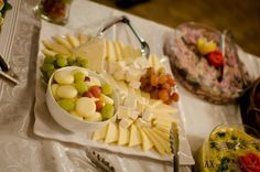 Canadian Cheese Plater with grapes, New Westminster, BC, Canada, Wedding buffet menu