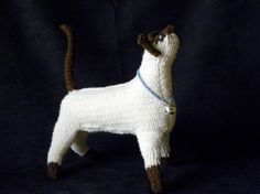 Sealpoint Siamese Knitted Kitty Standing by LauraYamadaArts, $89.00