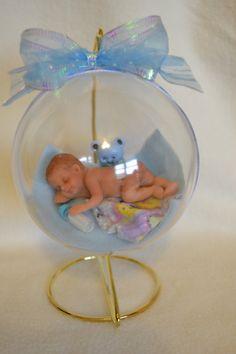 It's a Boy...Polymer Clay Baby Ornament par pattispeanuts sur Etsy
