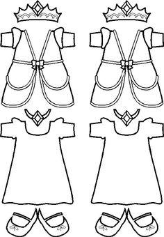 paper doll Princess Friends clothes