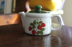 I love this Vintage Strawberry McCoy Teapot! Its the real McCoy!