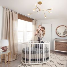 2016 Nursery Trend: Lighting that Shines. Eye-catching pendants and chandeliers are spicing things up. Brass geo pendants, irregular blown glass, organic shapes + more!