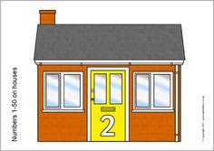 Numbers 0-50 on houses (SB4689) - Sparklebox