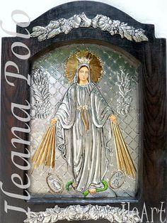 IleArt | Cuadros en Repujado y Óleo: Obras de la Virgen María - La Milagrosa