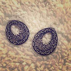 Black and Silver Earrings Cute black and silver dangle earrings!! Jewelry Earrings