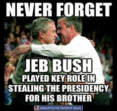 Hanging chads. 5 weeks the country was in limbo, while the count was done. Bush won by less than 1000 votes. And this was AFTER Florida purged 54% of the black population from the voting rolls.