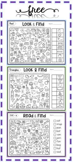 Free Hidden Picture Activities - Mrs. Thompson's Treasures #mathgames