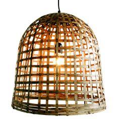 Naam: Bamboe bell lamp medium Maten:  Ø45Xh 45cm Materiaal: 100% bamboe Specificatie: handgemaakt