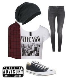 """""""Lonnie"""" by musicheartbeatjj ❤ liked on Polyvore featuring Yves Saint Laurent, 7 For All Mankind and Converse"""