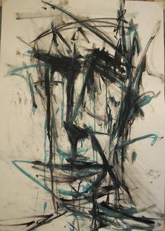 Joe Howlett 'Self portrait' - Ink, charcoal and acrylic on paper (2011)