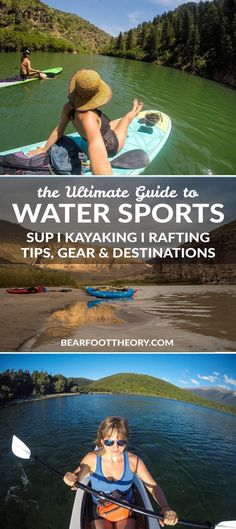Our ultimate guide to water sports featuring the best SUPing, rafting and kayaki. Our ultimate guide to water sports featuring the best SUPing, rafting and kayaking spots, along with helpful tips and advice to keep you afloat! Camping Tours, Kayak Tours, Kayak Camping, Camping Hacks, Outdoor Camping, Campsite, Diy Camping, Camping Life, Outdoor Travel