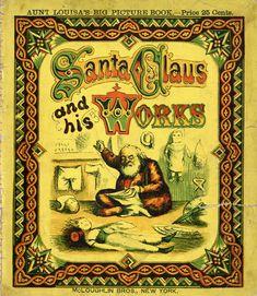 Santa Claus and his works book cover McLoughlin Bros.
