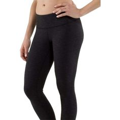 Pre-owned Lululemon Wunder Under Black Pique Yoga Workout Exercise... ($105) ❤ liked on Polyvore featuring activewear, activewear pants, none, lululemon and yoga activewear
