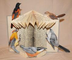 """""""Bird House"""" book sculpture (artist: Jodi Harvey-Brown)"""