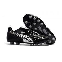 e2a5cc9b4223 Puma King Top M.I.I CHROME FG Football Boots Black Silver