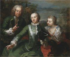 1736:Carl Gustaf Tessin, Ulla Sparre af Sundby samt Brita Stina Sparre (Martin van Meytens d.y.) - Nationalmuseum - 40210.tif