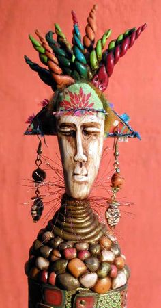 Standing Tribal Figure (Click) With Dayle Doroshow African Dolls, Paperclay, Doll Head, Polymer Clay Art, Indian Art, Beautiful Dolls, Love Art, Cat Art, Ceramic Art