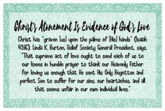 Feb. 2017, Christ's Atonement Is Evidence of God's Love February 2017 VT Handout - The Idea Door