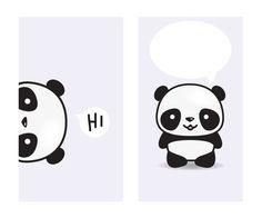 iPhone arte de panda fondos de pantalla por LookLookPrettyPaper