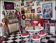 50 decorating ideas | 50s bedroom ideas - 50s theme decor - 1950s retro decorating style ...