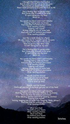 Stitches lyrics shawn mendes