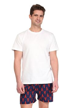 Product Details• A classic, comfortable fit with elastic covered waistband meets playful prints and vibrant colors on our men's cotton boxers.Material & Care• 100% Cotton Hand washSize & Fit• Boxer's available in all sizes (S, M, L & XL) Navy Man, Lounge Wear, Organic Cotton, Bull Boxer, Vibrant Colors, Men's Boxers, Lobsters, Classic, Mens Tops