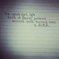 #hardwriting #cursive #print #notebook #pen #good #girl #quote #saying #bitch
