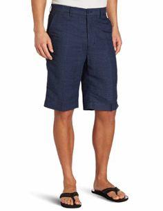 Cubavera Men's Flat Front Linen Blend Yarn Dyed « Clothing Impulse Plaid Shorts, Linen Shorts, Dress Blues, Blue Dresses, Designer Suits For Men, Guy Style, Men's Outfits, Resort Wear, Mens Suits