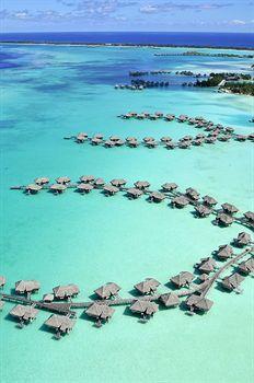 Resort in teh sea, Bora Bora, Tahiti.
