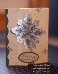 Some of my most favourite Stampin' Up! products are tools - I love punches, framelits, the punch boards,etc. So when I saw the Snowflake Thi. Circle Labels, Flip Cards, Snowflakes, Stampin Up, Christmas Cards, Frame, Tips, Blog, Ideas
