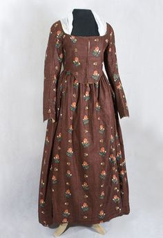1790s chintz gown remodeled from earlier garment. Wonderful construction photos. See Antique Textiles site.