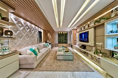 Awesome fusion of ceiling, furniture & flooring! Home Theaters, Home Cinemas, Home Theater Design, Home Interior Design, Interior Decorating, Decorating Ideas, Plafond Design, Casa Clean, False Ceiling Design