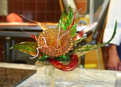 Stéphane Tréand's Sugar Class 2010 - exquisite sugar flower created using our Mercury Ripple mold - The Chicago School of Mold Making