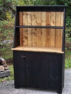 primitive country hutch