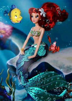 Disney Barbie Dolls, Ariel Doll, Princess Barbie, Mermaid Princess, Walt Disney, Andersen's Fairy Tales, Disney Movies, Disney Characters, Bloom Winx Club
